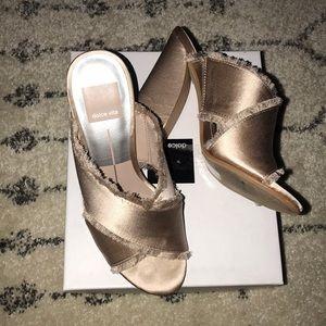 DOLCE VITA satin pink heels